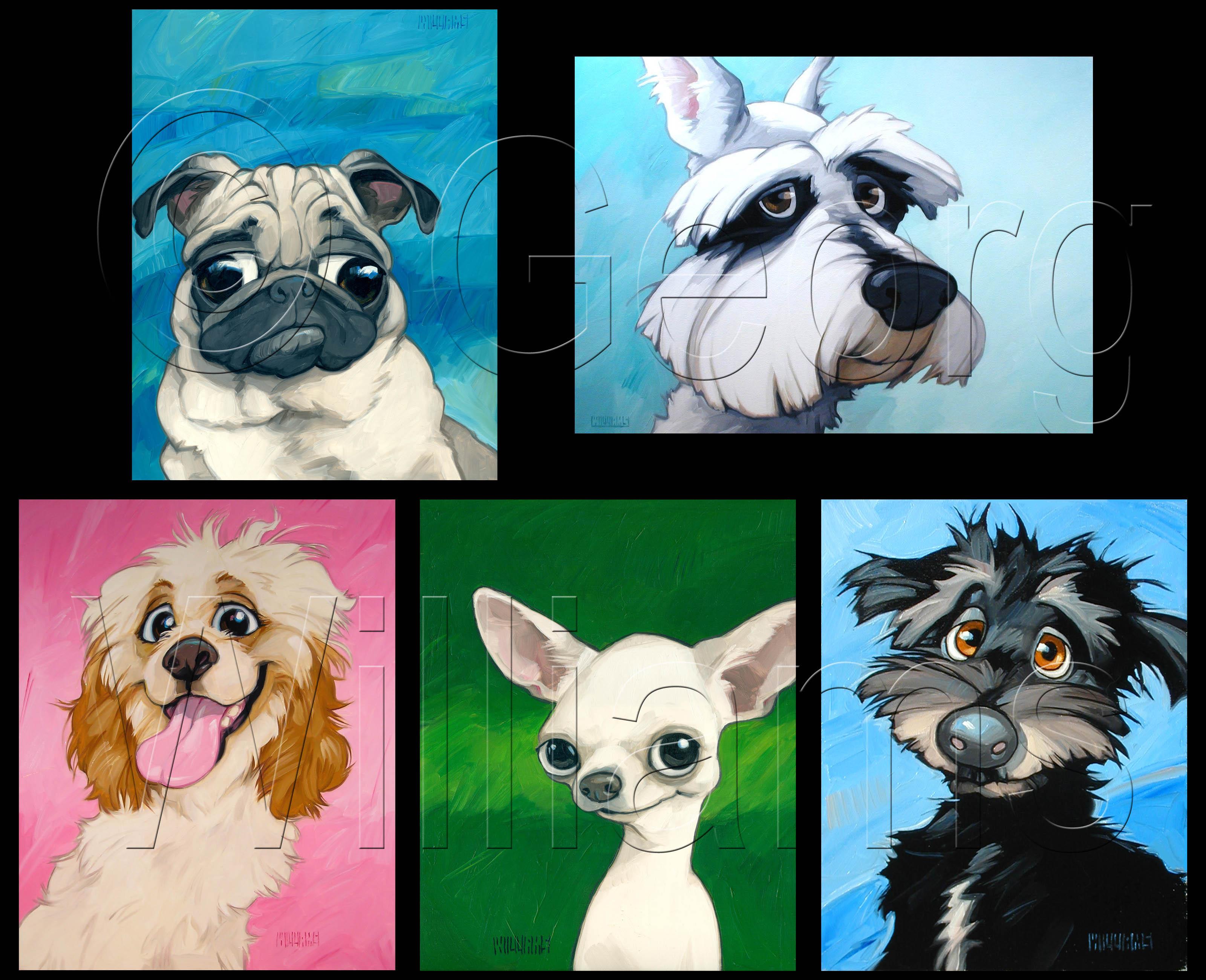 Dog greeting card set 4 georg williams studios dog greeting card set 4 m4hsunfo